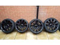 "19"" BMW E60/E61 Gloss Black Spider Wheels"