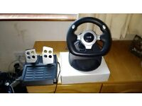 Logic 3 steering wheel and foot peddles