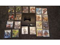 PS3 SLIM 320GB WITH 20 GAMES