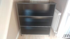 Medium size black bookcase