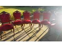 Queen Anne dining chairs shabby chic set project excellent condition
