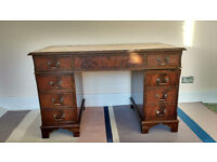 Solid wood Victorian writing DESK