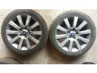 "Ford Focus 17"" Alloy Wheels with nearly new 205x50 ZR17 tyres."