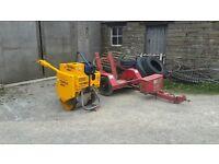 benford terex mbr71 roller and trailer