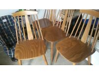 Four Dining Chairs ,Ercol Like /Similar Design ,Very nice condition,Collect EX15 code