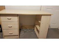 DESK IDEAL FOR COMPUTER / PC OR OFFICE OR SIMPLY BEDROOM COMPRISING OF 3 DRAWS