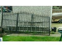 Wrought iron gates & fence panel