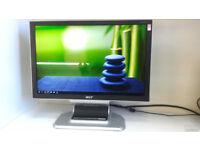 "Acer AL2051W 20"" LCD Monitor 8ms 1620x1050 Glossy"