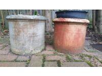Pair of Buff Chimney Pots c 1897