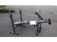 BODYMAX CF342 FOLDABLE WEIGHTS BENCH WITH LEG & ARM CURL - Incline - Decline Flat