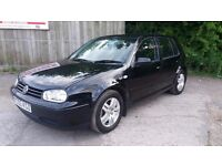 vw golf gt tdi 130 bhp 6 speed 172k with service history with reciepts and mot may 2018