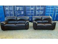 3+2 seater real leather