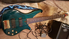 Base Guitar Yamaha 5 String RBX 765a and Peavey MAx126 AMP
