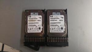 LOT OF 2 HP 418373-003/418373-004 72GB 15K RPM SAS HARD DISK with tray