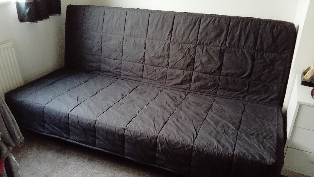 Ikea 3 seater sofa bed 200cm long and when extended as for Wide sofa bed