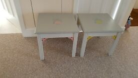 Pair of hand painted occasional / coffee / lamp tables ......will sell separately!
