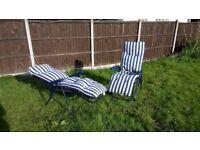 FREE 2x reclining sun loungers