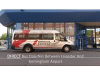 DIRECT bus Transfers Between Leicester and Birmingham Airport