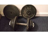 Dumbbell and Weights (Total 37.5 kg)