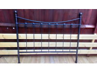"4'6"" (1.4m) metal framed DOUBLE BED & Mattress"