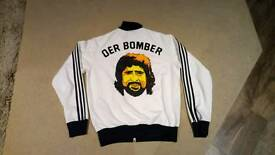 Adidas Originals Der Bomber Gerd Muller limited edition Word Cup Greatest Moments Jacket size L