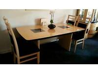 Harveys top of the range Sienna extending table and 4 Chairs