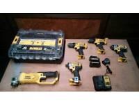 DeWalt Angle Grinder 18V impact drill driver 18V charger 10.8V 14.4V combo compact set 2 batteries