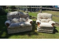 2 Seater Sofa and Armchair As New