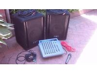 Compact 200w PA system & Mic
