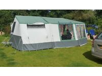 Conway Camborne Trailer Tent 8 - berth with camping equipment.