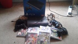 PS 3 500GB AND GAMES
