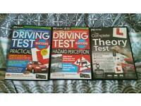 Free 3x Driving test theory discs