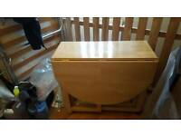 Beech Folding Table & 4 chairs