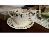 Emma bridgewater. Rare. Large strong cup of tea and saucer