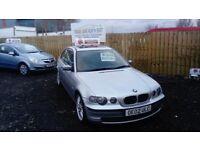 2002 02 BMW 320d COMPACT MOT MAY 150bhp PX TO CLEAR £695
