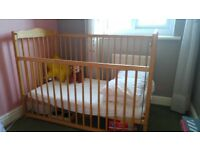 Mothercare cotbed, used, in very good condition