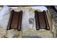 "Pair of New 6"" Double Action Spring Hinges"