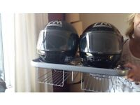 NEW IN BOX HELMET AND GLOVES STAND