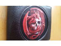 *DRAGON SKULL* Anne Stokes Age Of Dragons Fantasy Art 3D Black Wallet