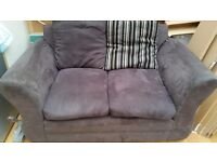 FREE 2 SEATER SOFA CHARCOAL GREY GOOD CLEAN CONDITION