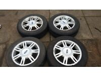 Genuine Ford Fiesta Alloy Wheels & Very Good Tyres - 4x108 pcd