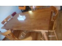 Pine Dining Table - 6 seater