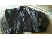 Blue zoo childs leather look jacket