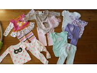 Baby Girl Clothes Bundle - size 6-12m (incl size 6-9m, 9-12m, and 6-12m clothes) - excellent cond.