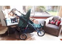 Sport/All Terrain/3 wheel Jogging Pram. Similar to Out 'n' About Nipper Sport V4. Light use. £60.