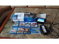 Sony PlayStation Vita Crystal Black Handheld WIFI 7 x FREE Genuine Games LOOK!