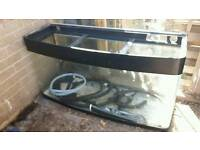 bow front fish tank ,