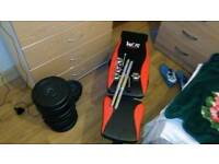 Dumbells and bench