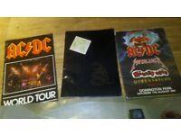 3 x metallica / ac/dc / 1991 donnington programmes