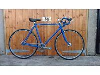 Classic Raleigh 80s Road Bike, 57cm, Restored, Singlespeed, Not Fixed
